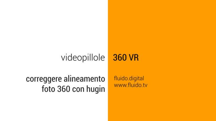 Correzione allineamento fotografie 360